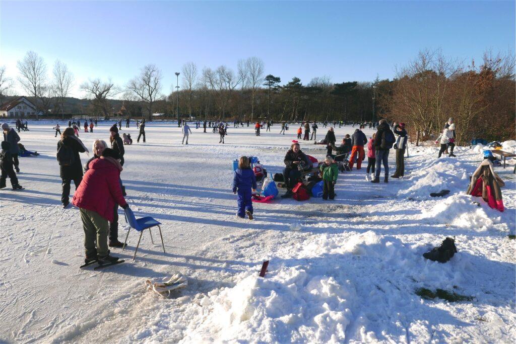 Pret op de ijsbaan