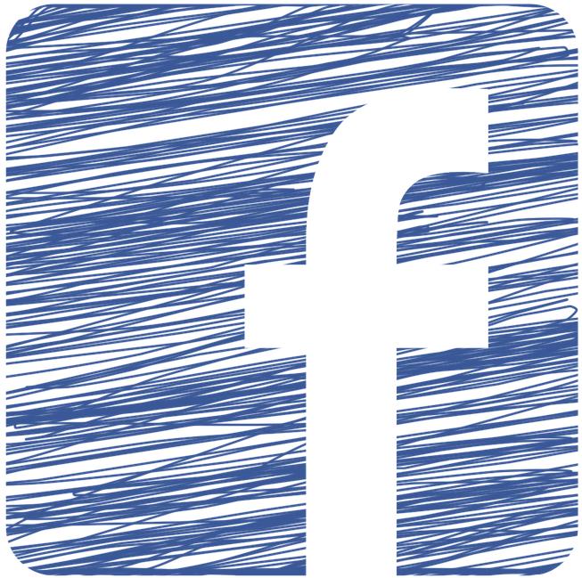 Facebook ikoon om naar de Facebookpagina te gaan